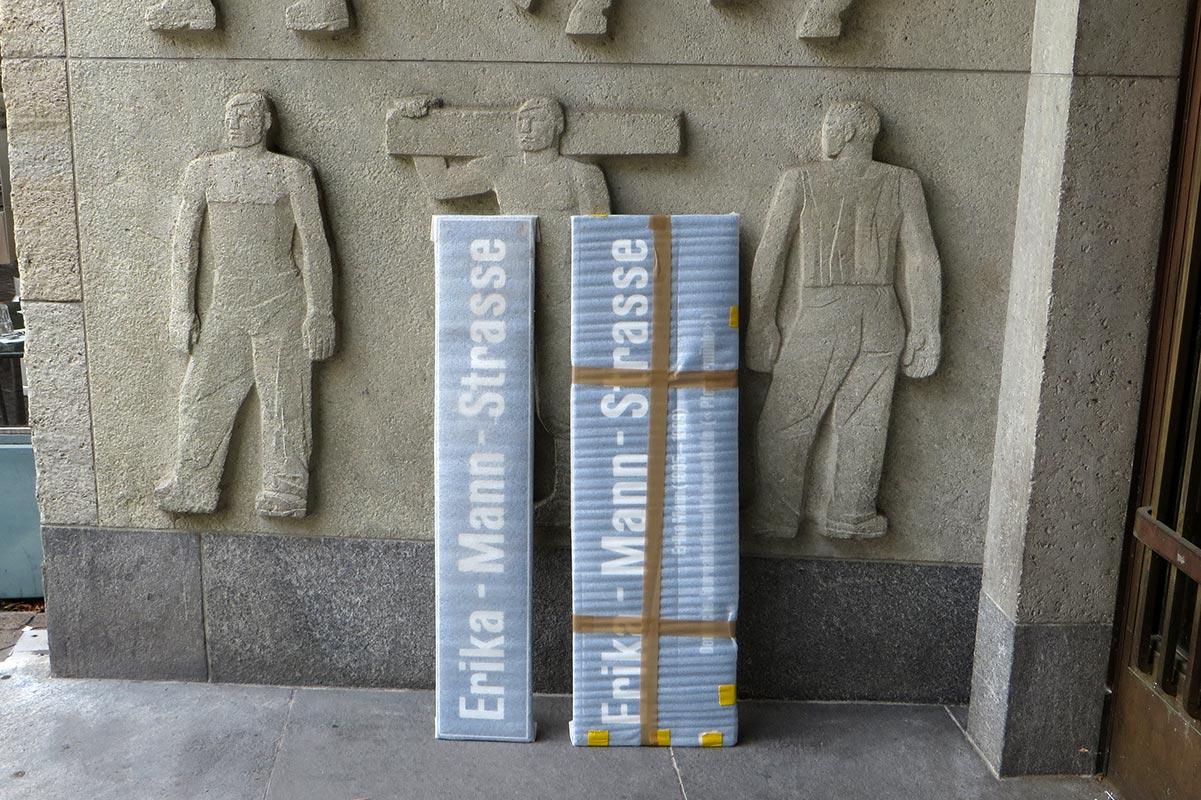Zürich: Erika Mann, Schilder und Arbeit